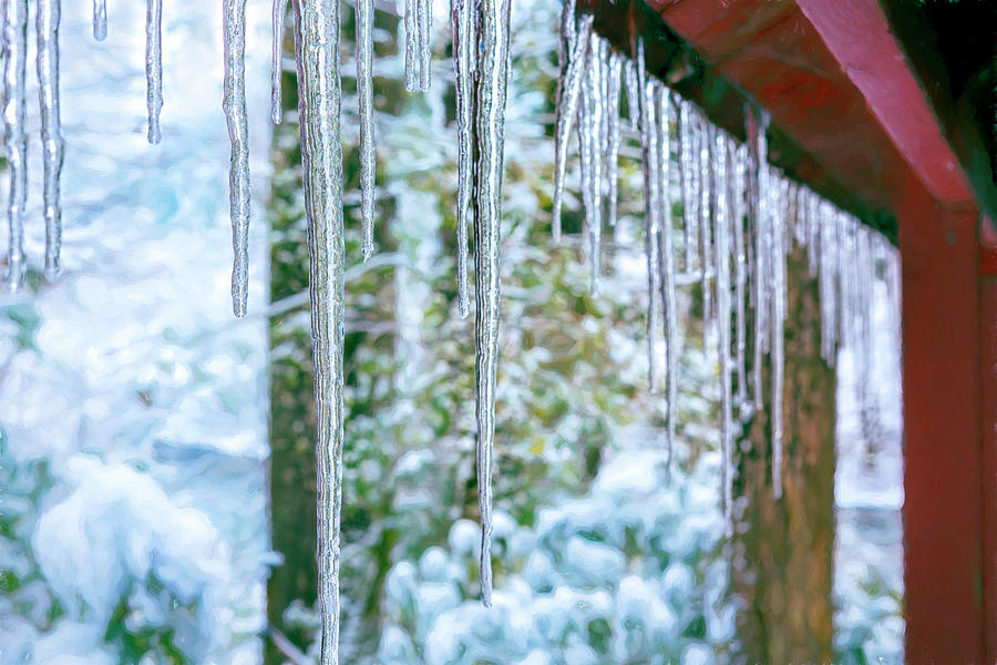 Icicles on the Woodshed by Belinda Greb