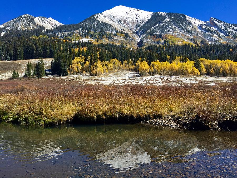 East River Photograph - Icing on Avery Peak by Lori J Welch