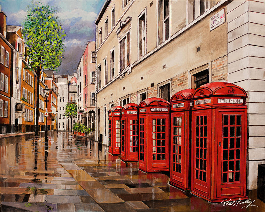 Iconic London Phone Booths by Bill Dunkley