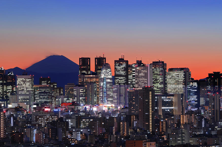 Iconic Mt Fuji With Shinjuku Skyscrapers Photograph by Image Provided By Duane Walker