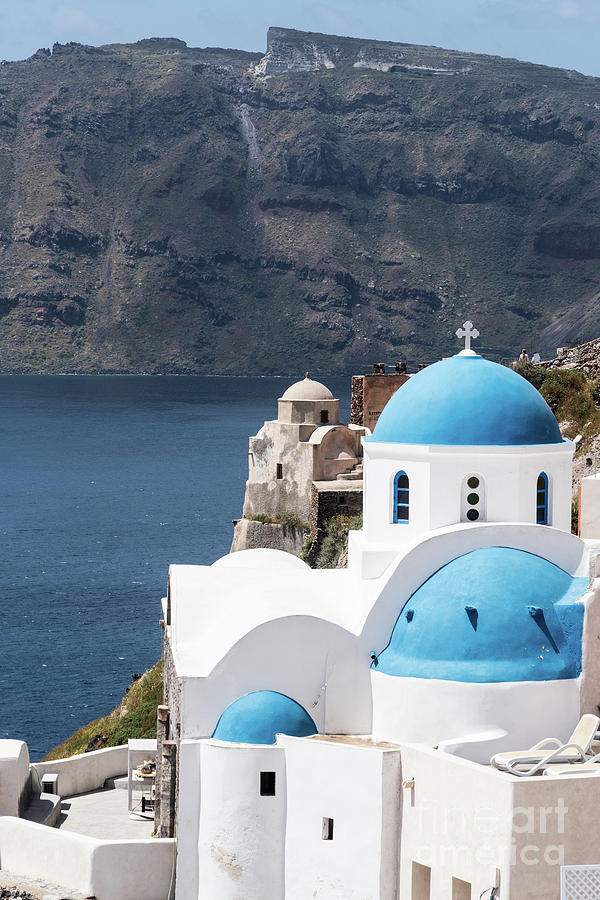 Iconic Santorini church in Greece by Didier Marti