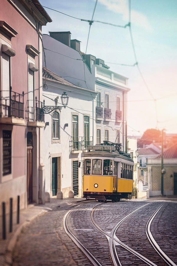 Iconic Tram 28 Lisbon Portugal Photograph