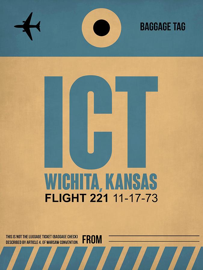Vacation Digital Art - Ict Wichita Luggage Tag I by Naxart Studio