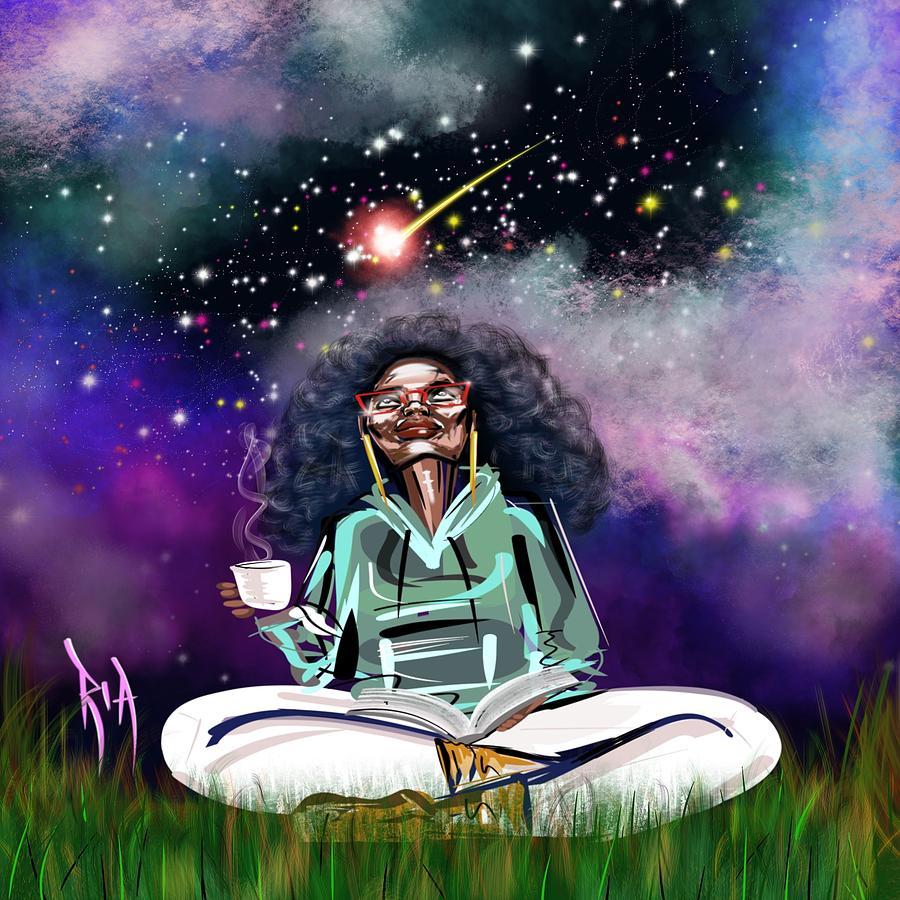 Coffee Painting - I.C.U like U.C.Me by Artist RiA
