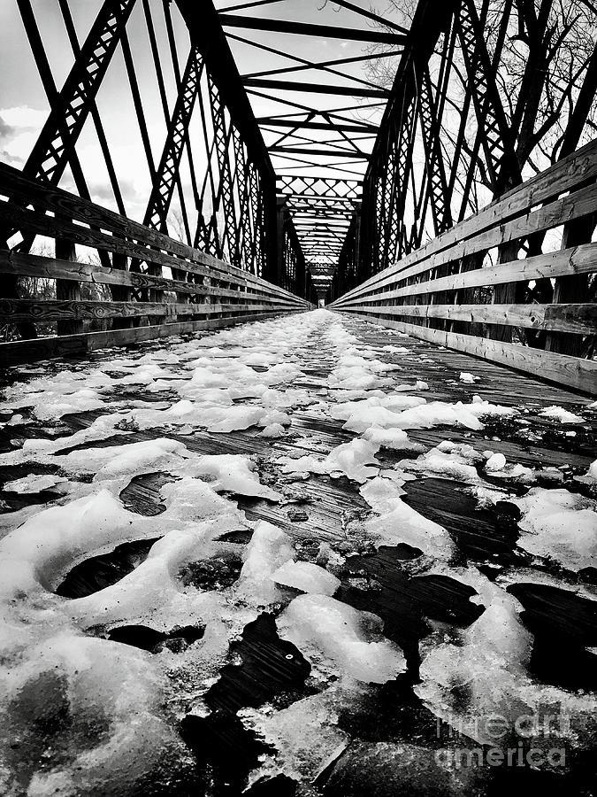 Icy Bike Bridge Photograph by JMerrickMedia