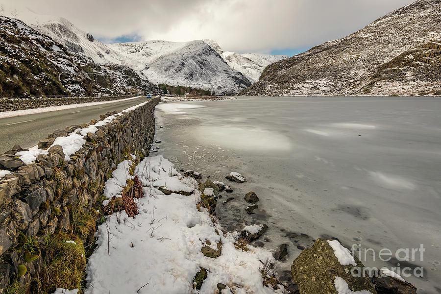 Icy Lake Ogwen Snowdonia by Adrian Evans