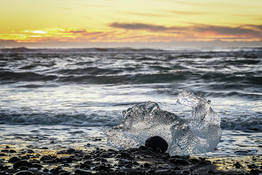 Iceland Photograph - Icy Sunrise by Framing Places