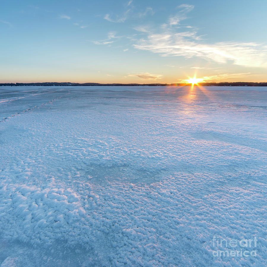 Bear Lake Photograph - Icy Sunset Square by Twenty Two North Photography