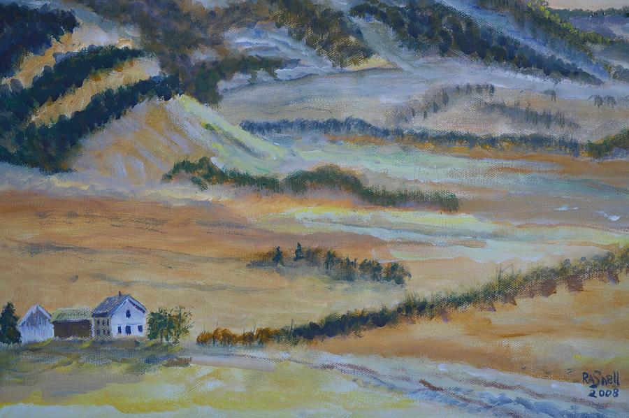 Landscape Painting - Idaho-utah Border by Roger Snell