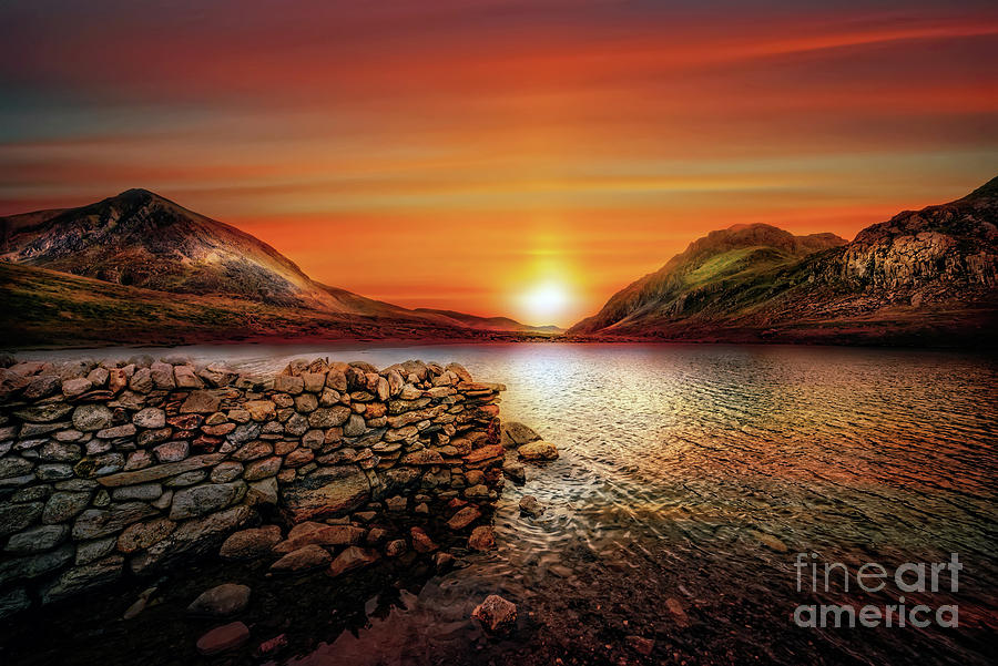 Idwal Lake Sunset by Adrian Evans