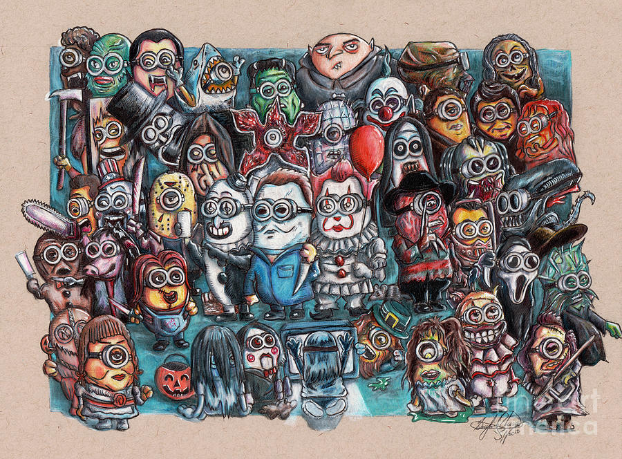 If Minions Were Horror Movie Villains Drawing By Serafin Ureno