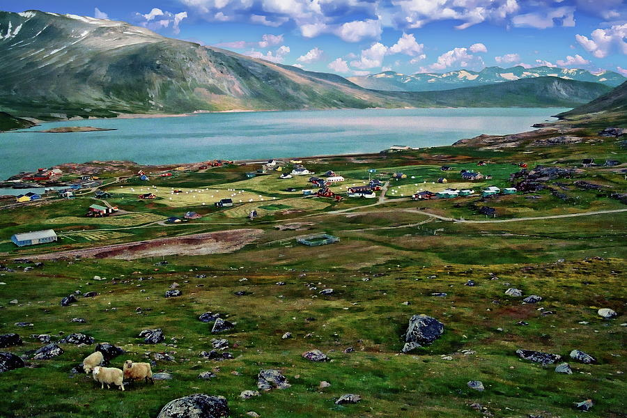 Igaliku Landscape View by Anthony Dezenzio