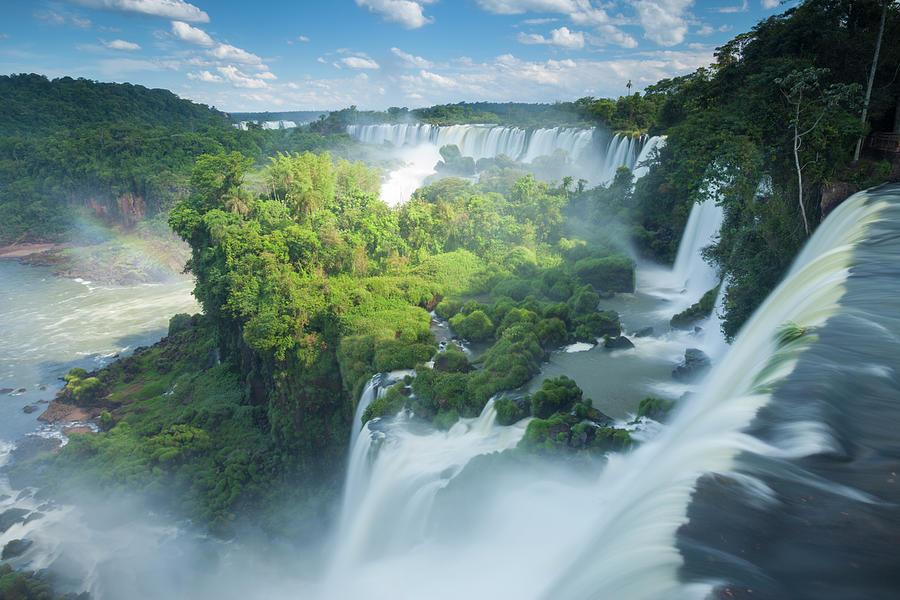 Igauzu Falls In Argentina Photograph by Grant Ordelheide