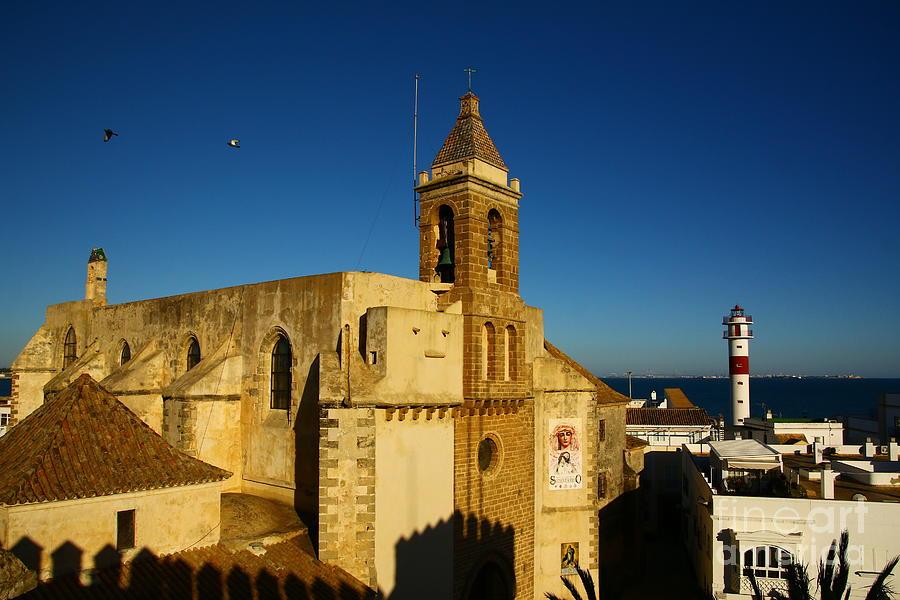 Bell Tower Photograph - Iglesia De La O, Rota, Spain by Tony Lee