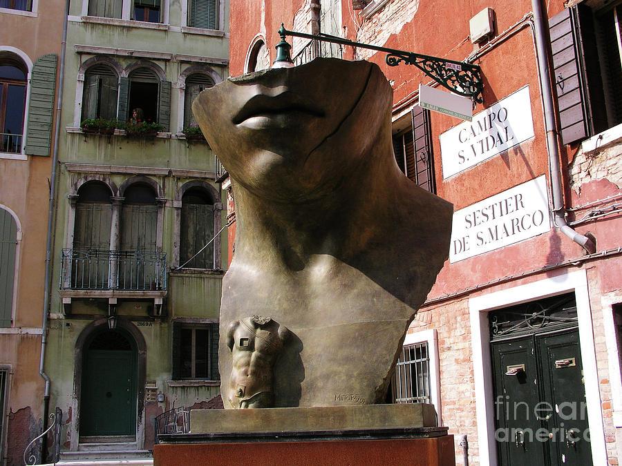 Igor Mitoraj in Venice by Mary Capriole