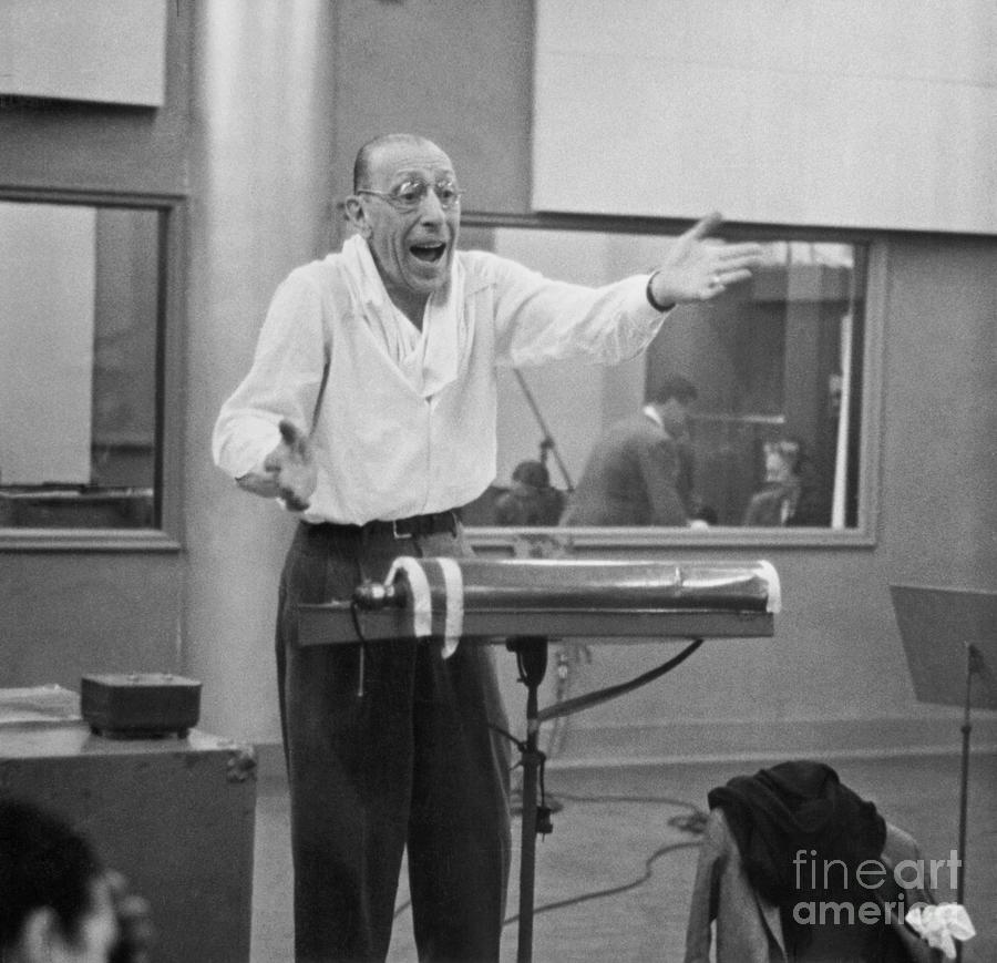 Igor Stravinsky Rehearsing Photograph by Bettmann