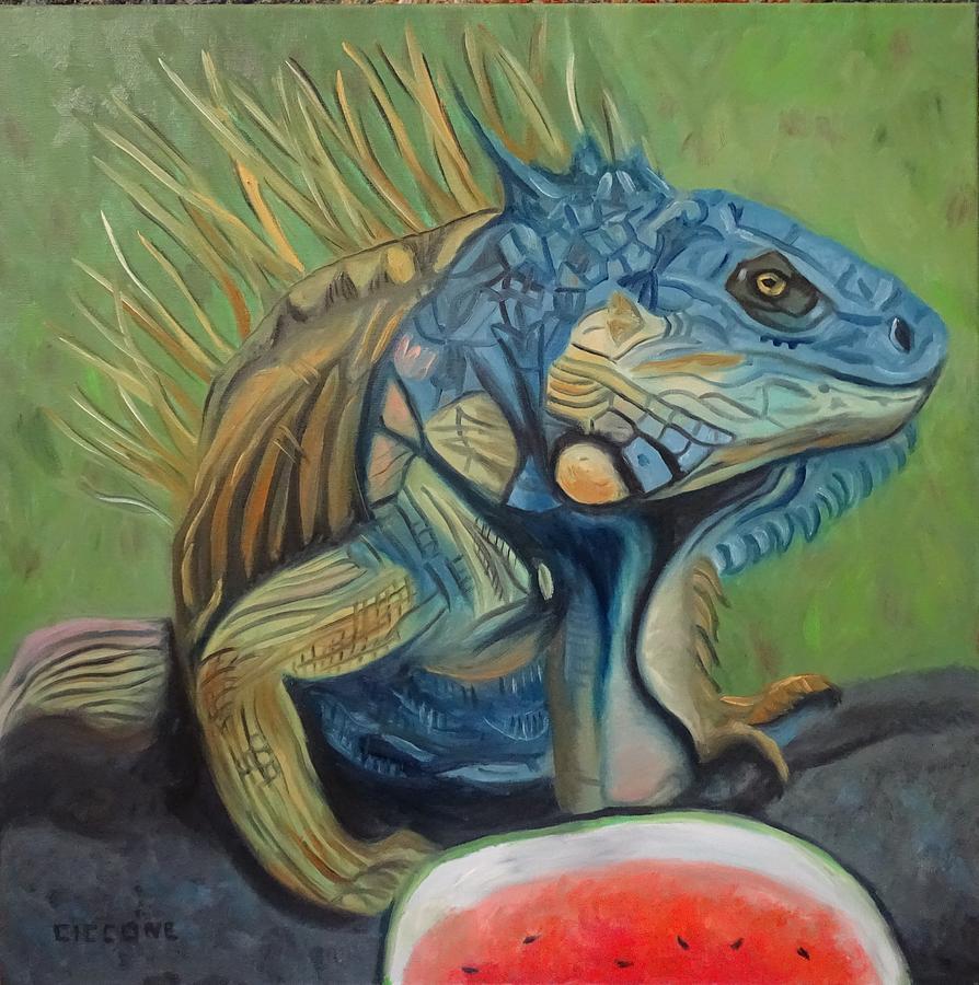 Iguana Picnic by Jill Ciccone Pike