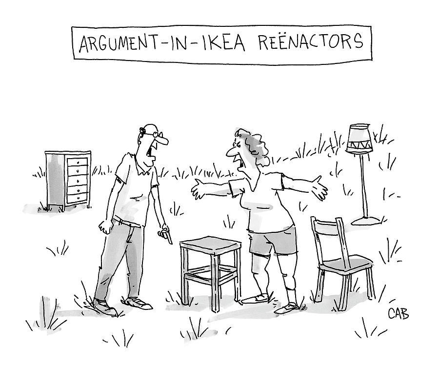 Ikea Reenactors Drawing by Adam Cooper and Mat Barton