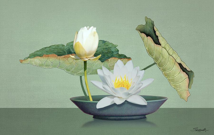 Ikebana and Lotus Flower by Spadecaller