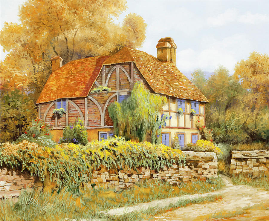England Painting - Il Salice Inglese by Guido Borelli