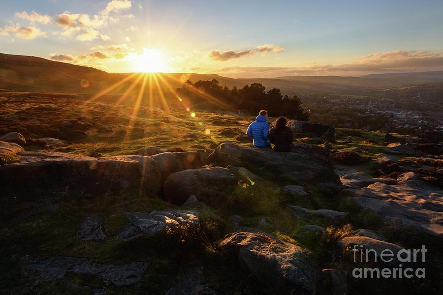 Ilkley Sunset Photograph