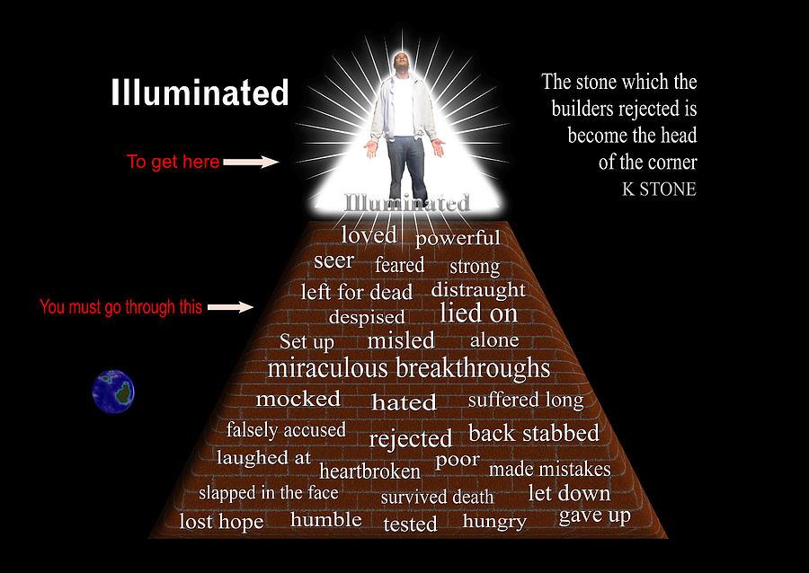 Illuminati Digital Art - Illuminated by K STONE UK Music Producer