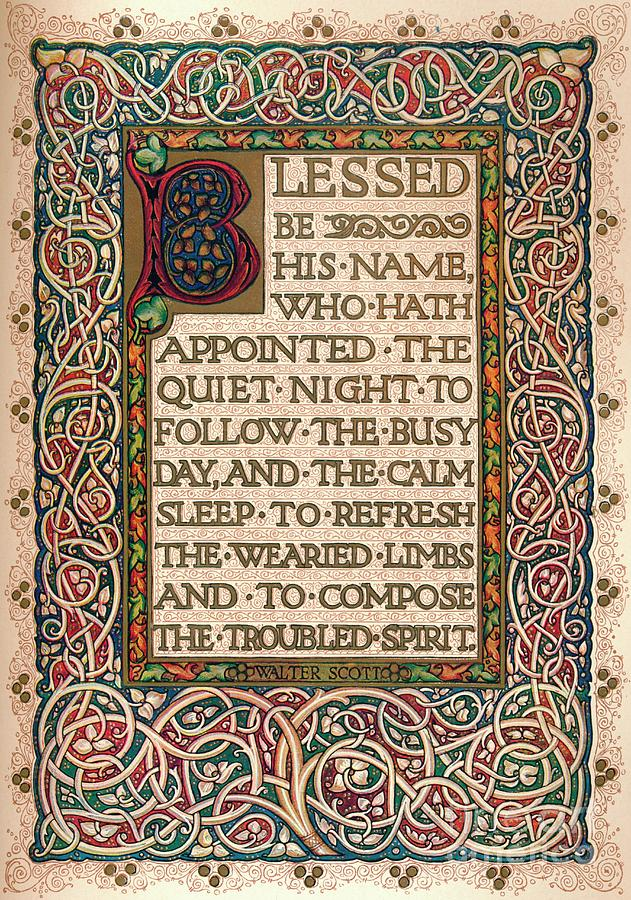 Illuminated Manuscript To Illustrate Drawing by Print Collector