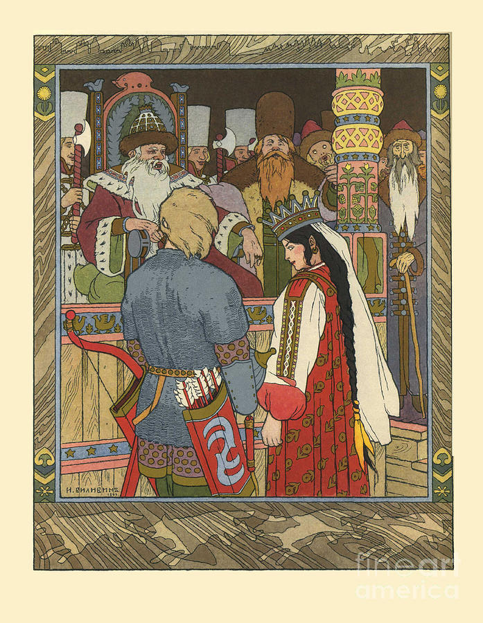 Illustration For The Fairy Tale Of Ivan Drawing by Heritage Images
