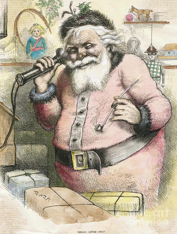 Illustration Of A Santa Claus Using Photograph by Bettmann