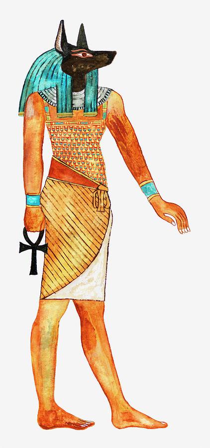 Illustration Of Ancient Egyptian God Of Digital Art by Dorling Kindersley