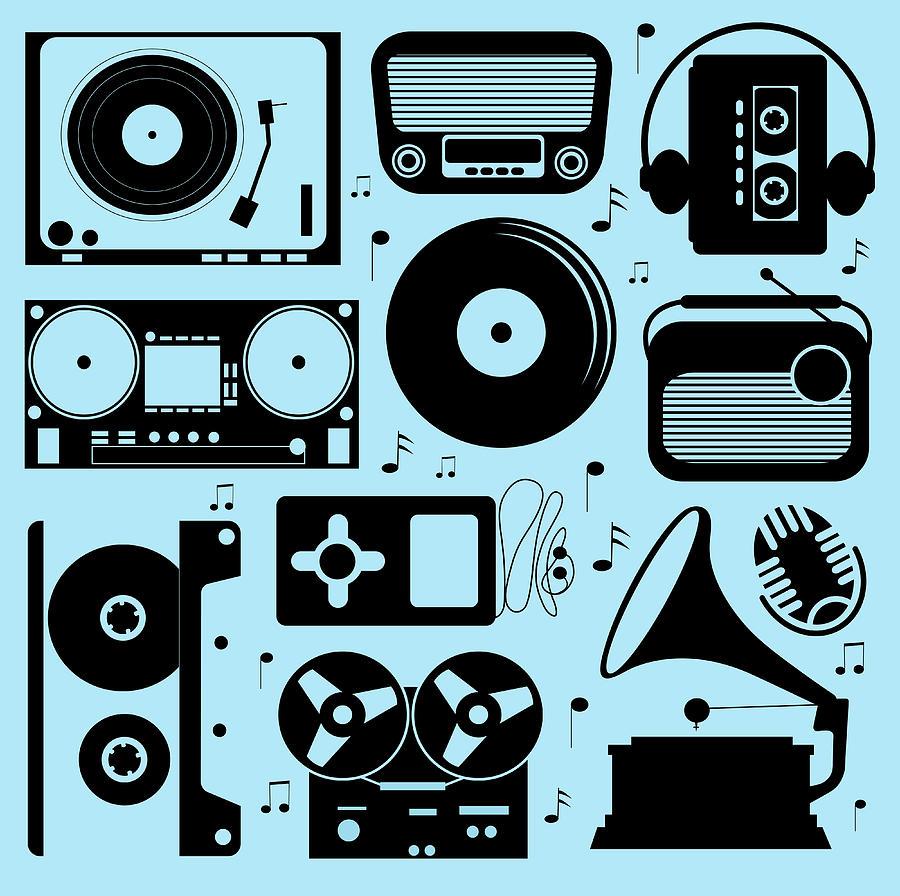 Illustration Of Different Musical Digital Art by Olillia
