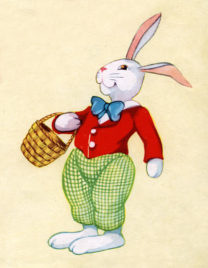 Illustration Of Easter Bunny Digital Art by Graphicaartis