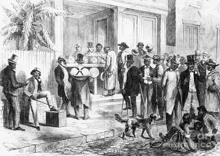 Illustration Of Freedmen Voting Photograph by Bettmann