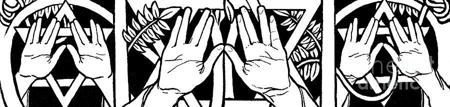Ephraim Photograph - Illustration Of Hands by Ephraim Moses Lilien