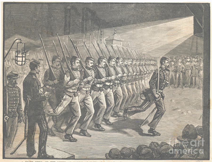 Illustration Of Soldiers Training Photograph by Bettmann