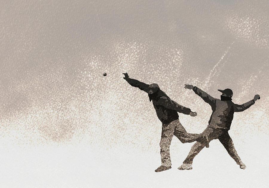 Illustration Of Terrorists Throwing Bomb Digital Art by Malte Mueller