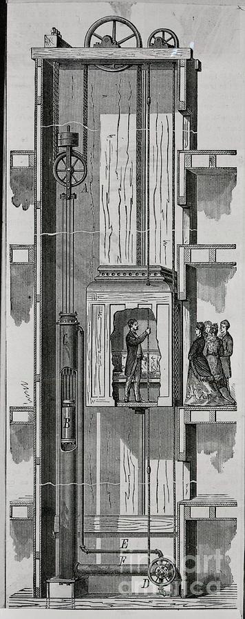 Illustration Of Water Elevator Photograph by Bettmann
