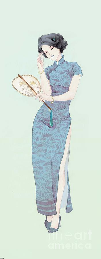 Illustration Of Woman Wearing Digital Art by Sino Images