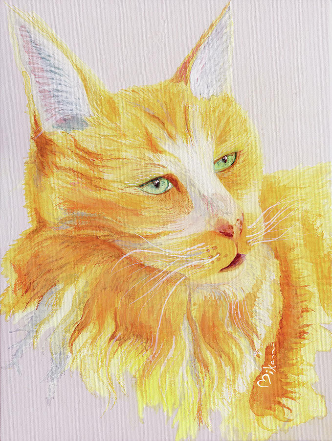 Cat Painting - Im A Pretty Kitty by Miko Zen