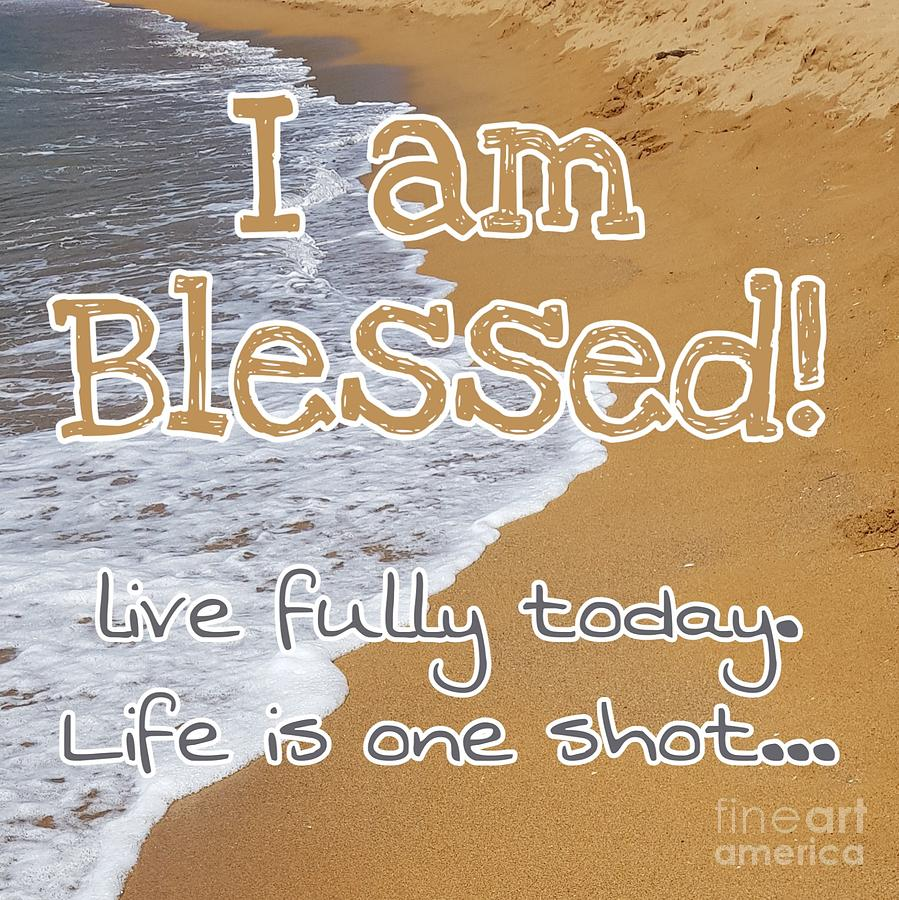 Cards Digital Art - Im Blessed by Paola Baroni