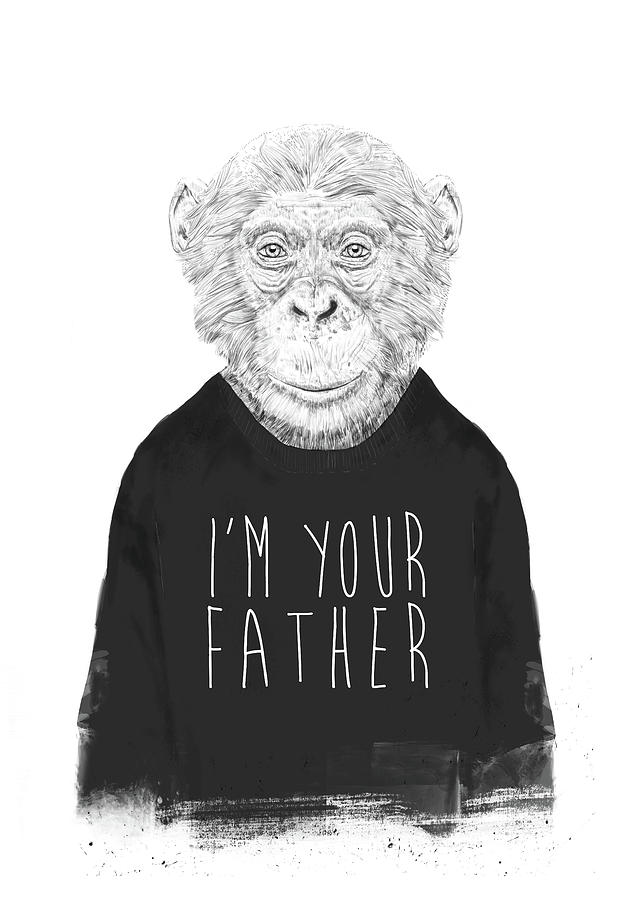Monkey Mixed Media - Im Your Father by Balazs Solti
