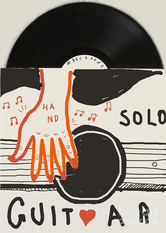 Retro Style Digital Art - Image Of An Old Vinyl Record Music by Dmitriip