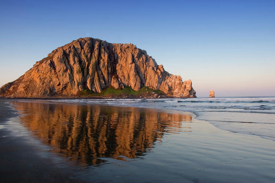 Image Of Morro Rock And Its Reflection Photograph by Jftringali
