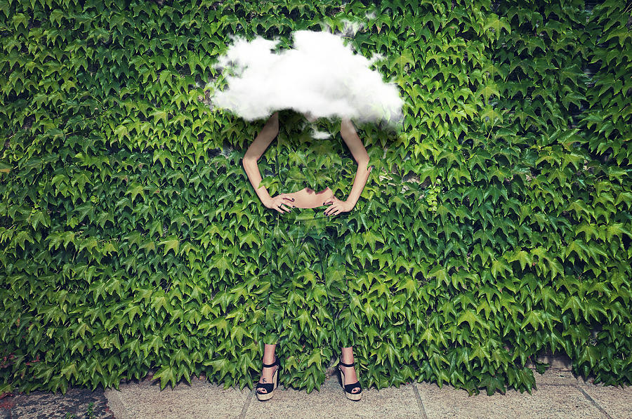Image Of Young Woman On Ivy Plants And Photograph by Francesco Carta Fotografo