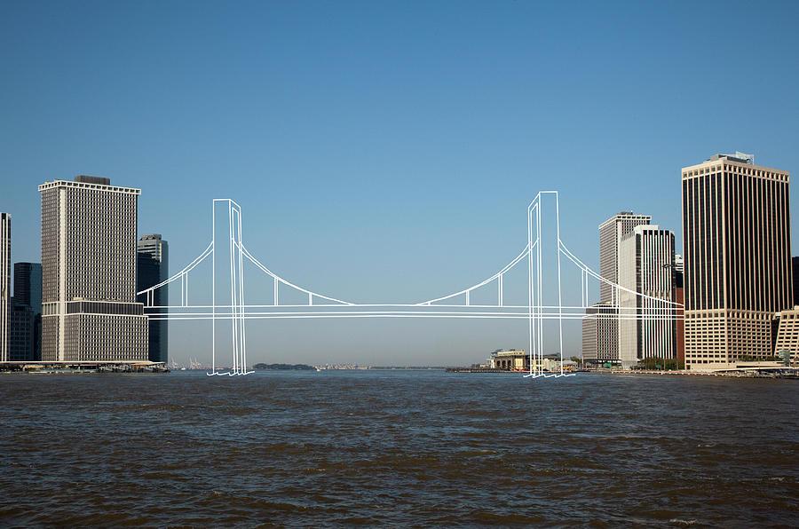 Imaginary Bridge Connecting Cities Photograph by Thomas Jackson