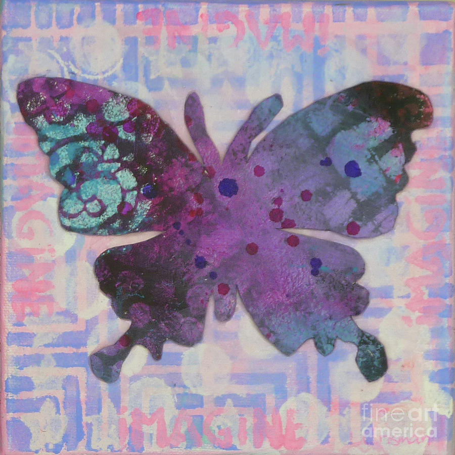 Butterfly Mixed Media - Imagine Butterfly by Lisa Crisman