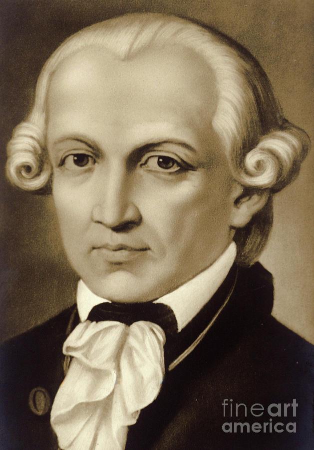 Kant Painting - Immanuel Kant 1724-1804, German Philosopher And Writer by German School