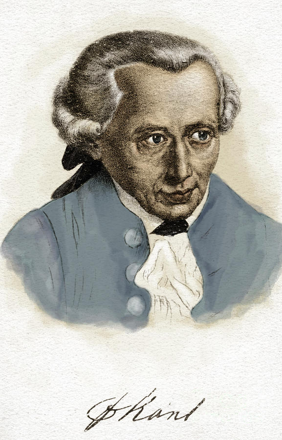 Kant Painting - Immanuel Kant, German Prussian Philosopher, 22 April 1724-12 February 1804 by German School