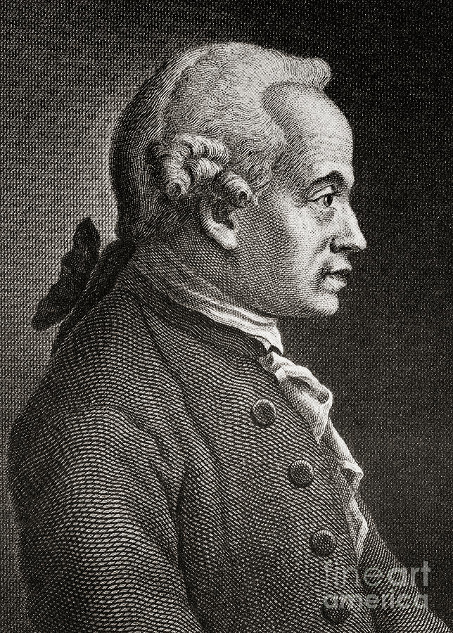 Kant Drawing - Immanuel Kant, The German Philosopher by German School