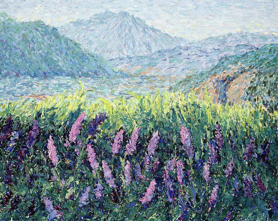 Lavender Impasto  by Mary Giacomini
